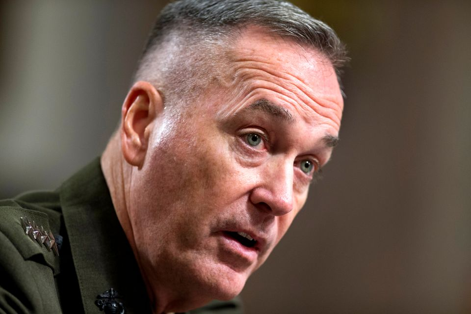 Nationality: American Served: Feb. 10, 2013 to present  <em>Caption: Marine Gen. Joseph Dunford, Jr. testifies on Capitol Hil