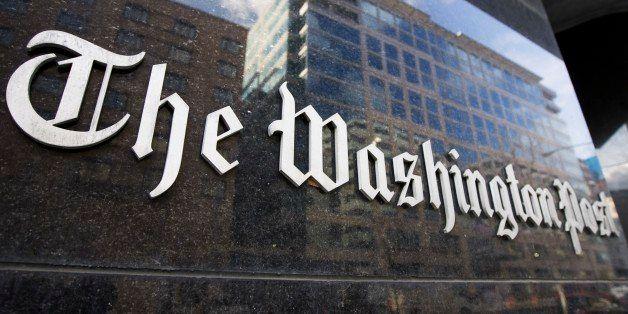 FILE - In this Feb. 27, 2008 file photo, The Washington Post building in Washington is shown. The Washington Post Co. reporte