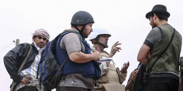 MISRATA, LIBYA - JUNE 02:   In this handout image made available by the photographer American journalist Steven Sotloff (Cent