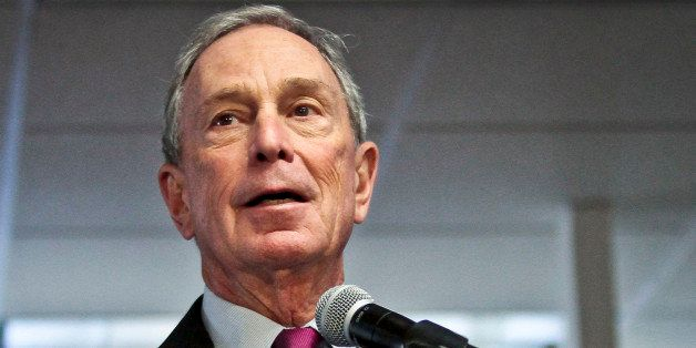 FILE - In this Dec. 18, 2013, file photo, Mayor Michael Bloomberg speaks in New York. The former New York mayor was the No. 4