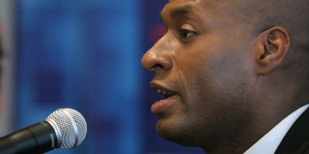 NEW YORK - OCTOBER 14:  Op-Ed columnist for The New York Times Charles Blow speaks during Time Warner's Political Conference