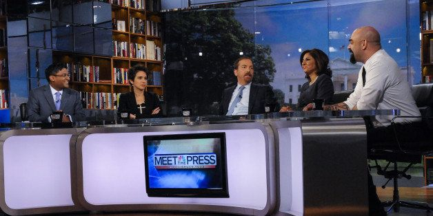 MEET THE PRESS -- Pictured: (l-r)   Grover Norquist, President, Americans for Tax Reform, appears on 'Meet the Press' in Wash