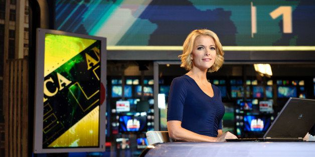 NEW YORK, NY - OCTOBER 10:  Megyn Kelly, host of America Live on set at Fox News studios in New York.  Fox News Channel celeb