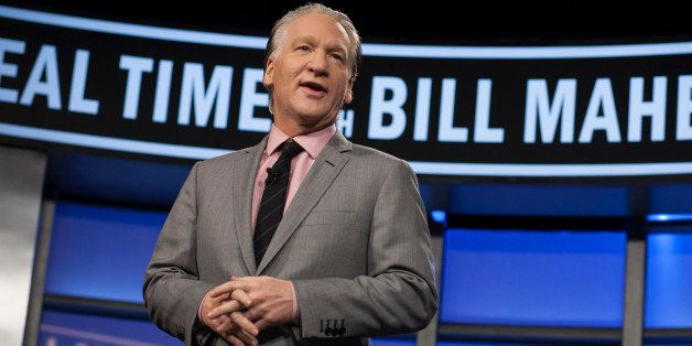 "In this photo provided by HBO, Bill Maher hosts the season premiere of ""Real Time with Bill Maher"" Friday, Jan. 25, 2013, in"