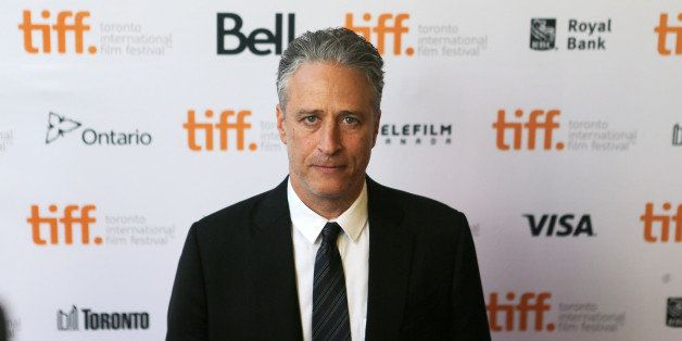 TORONTO, ON - SEPTEMBER 8:  Jon Stewart arrives for the red carpet for his movie Rosewater  at  Princess of Wales.        (St