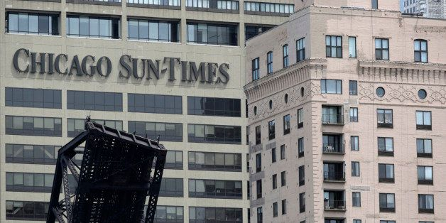 The Chicago Sun Times building is photographed Thursday, May 30, 2013, in Chicago. The Sun-Times Media announced today that t