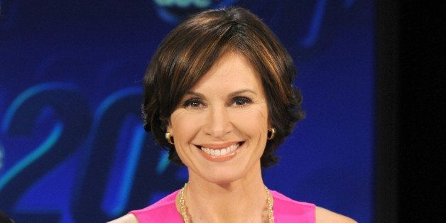 """This Feb. 1, 2013 photo released by ABC shows co-anchor Elizabeth Vargas  on the set of """"20/20,"""" in New York. Television news"""