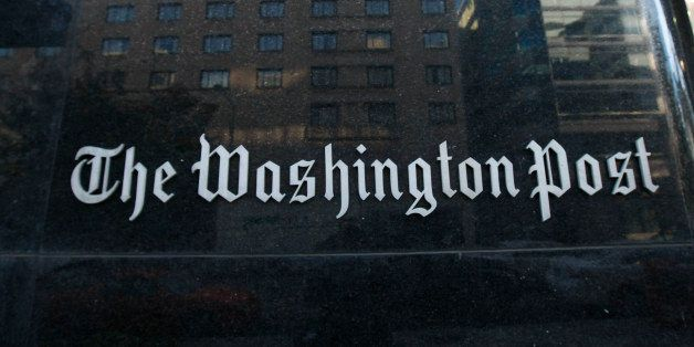 FILE - In this Oct. 31, 2008 file photo, the Washington Post building is seen in Washington. The Washington Post, in a staff