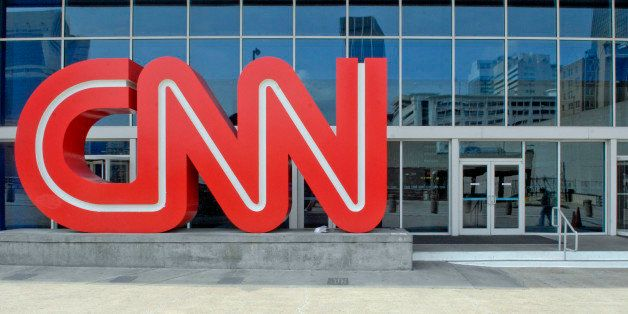UNITED STATES - APRIL 03:  A CNN logo stands outside the CNN Center on Tuesday April 3, 2007 in Atlanta, Georgia.  (Photo by