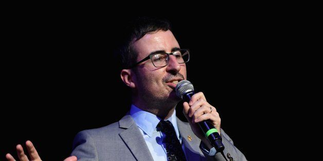 NEW YORK, NY - NOVEMBER 05:  Comedian John Oliver performs onstage at 2014 Stand Up For Heroes at Madison Square Garden at Ma