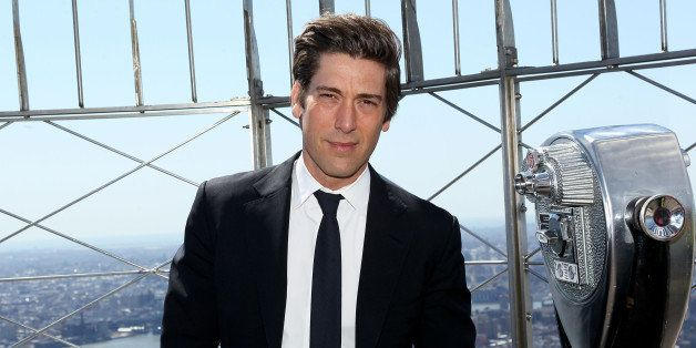 NEW YORK, NY - APRIL 24: David Muir visits The Empire State Building on April 24, 2014 in New York City. (Photo by Steve Mack/Getty Images)