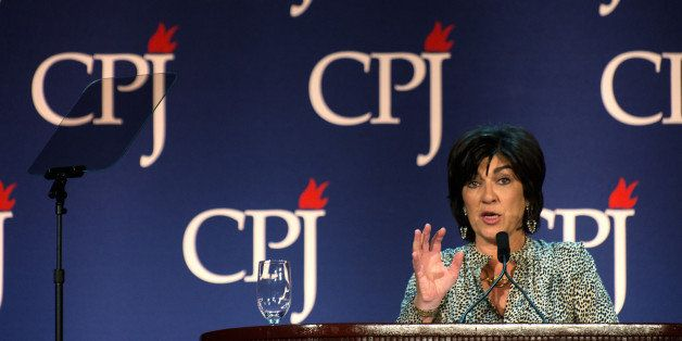 NEW YORK, NY - NOVEMBER 25: Christiane Amanpour hosts the Committee to Protect Journalists International Press Freedom Awards
