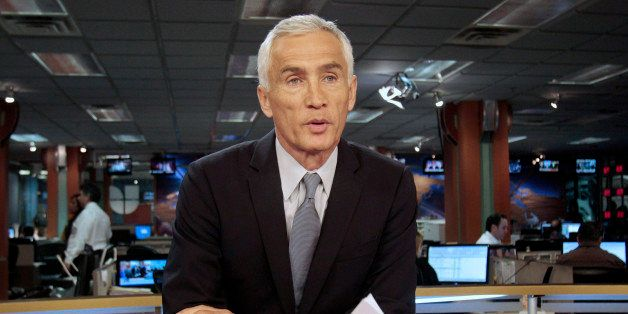 In this Dec. 14, 2011 photo, Univision newscaster Jorge Ramos works in the studio in Miami, Florida. Ramos is anchors one of