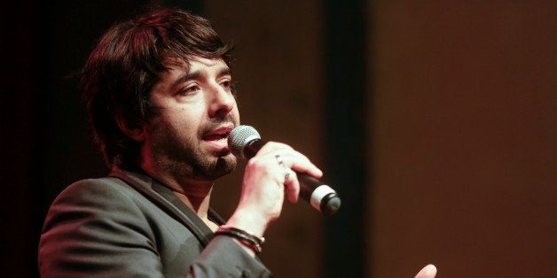 PORTLAND, OR - APRIL 24: Jian Ghomeshi records a live show at Aladdin Theater on April 24, 2014 in Portland, Oregon. (Photo b