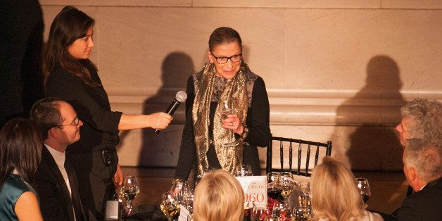 WASHINGTON, DC - NOVEMBER 19:  Supreme Court Justice Ruth Bader Ginsburg gives a toast at the New Republic Centennial Gala at