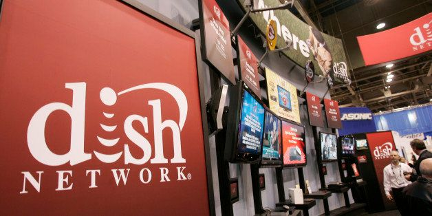 FILE - In this Jan. 10, 2009 photo, a Dish Network booth at the Consumer Electronics Shows in Las Vegas, is shown. Dish Netwo