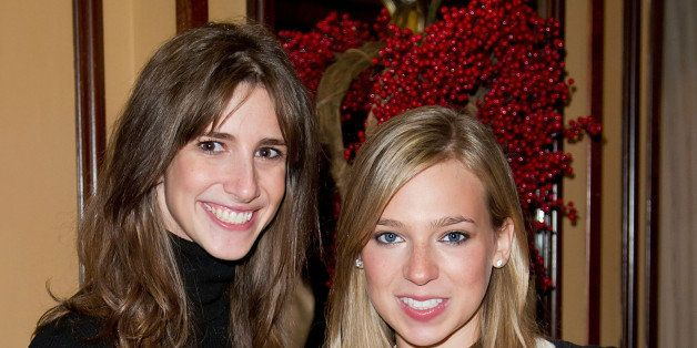 NEW YORK, NY - DECEMBER 12:  (L-R) Danielle Weisberg and Carly Zakin, founders of theSkimm attend Loews Regency Hotel Power B