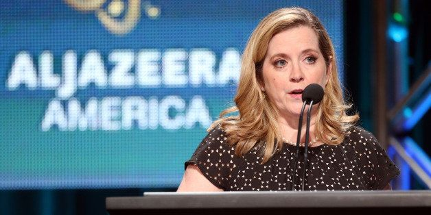 BEVERLY HILLS, CA - JULY 08:  Al Jazeera America president Kate O'Brian speaks onstage at the Formal News panel during the Al