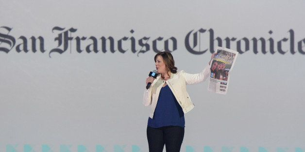 OAKLAND, CA - MARCH 26: San Francisco Chronicle Managing Editor Audrey Cooper speaks on stage during the 1st Annual 'We Day'