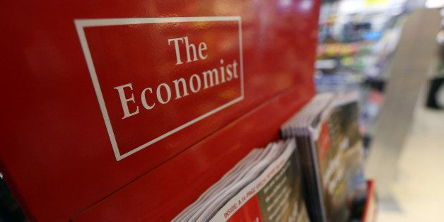 The Economist magazine, part-owned by the Financial Times Group, is seen on display at a newsagents in London, U.K., on Wedne