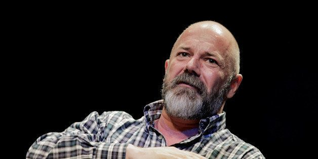 WASHINGTON, DC - APRIL 04: Andrew Sullivan, editor of The Dish, leads a discussion with Michael Lewis, a financial journalist