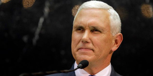 Indiana Gov. Mike Pence delivers his State of the State address where he proposed balanced budget amendment to a joint sessio