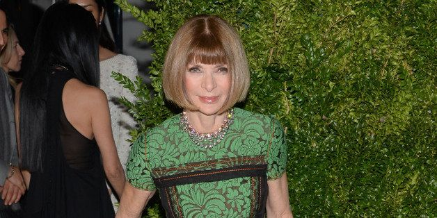 Anna Wintour attends the 11th Annual CFDA/Vogue Fashion Fund Dinner event at Spring Studios on Monday, Nov. 3, 2014, in New Y