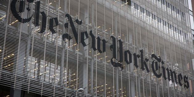 NEW YORK, NY - OCTOBER 01:  The New York Times building is seen on October 1, 2014 in New York City. The Times announced plan