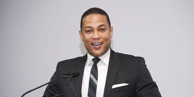 NEW YORK, NY - APRIL 23:  TV news journalist Don Lemon speaks on stage at Housing Works Groundbreaker Awards Dinner at The Me