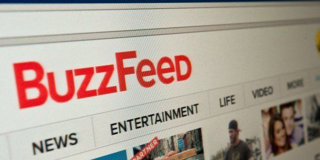 The logo of news website BuzzFeed is seen on a computer screen in Washington on March 25, 2014.   AFP PHOTO/Nicholas KAMM