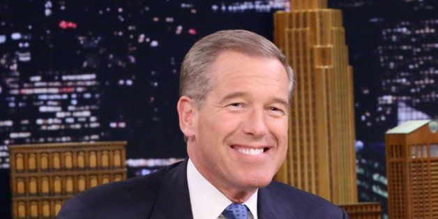 THE TONIGHT SHOW STARRING JIMMY FALLON -- Episode 0196 -- Pictured: Journalist Brian Williams on January 16, 2015 -- (Photo b