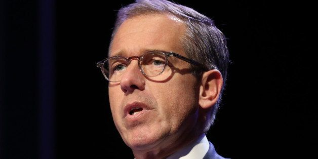 NEW YORK, NY - MARCH 30:  Emmy Award-winning anchor & managing editor of NBC Nightly News  Brian Williams speaks at the 57th