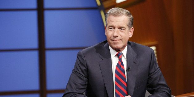 LATE NIGHT WITH SETH MEYERS -- Episode 065 -- Pictured: NBC News' Brian Williams during an interview on July 7, 2014 -- (Phot