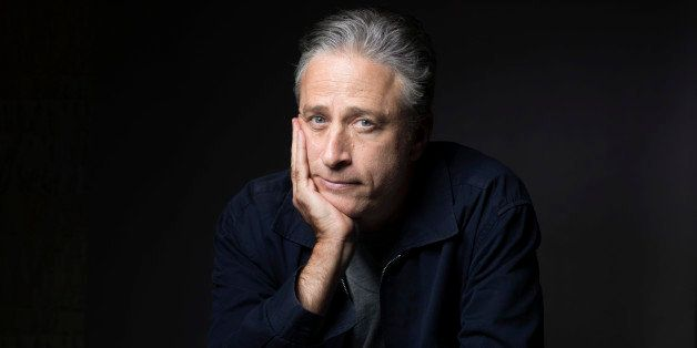 "FILE - In this Nov. 7, 2014 file photo, Jon Stewart poses for a portrait in promotion of his film,""Rosewater,"" in New York. C"