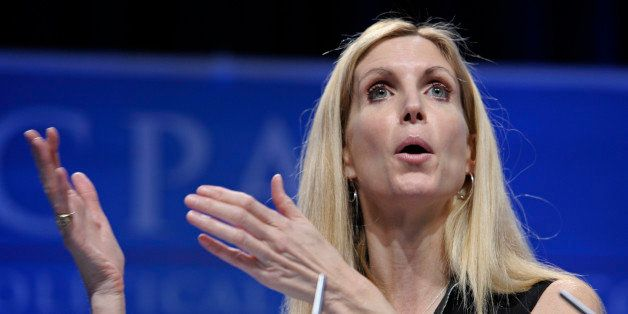Ann Coulter speaks at the Conservative Political Action Conference (CPAC) in Washington, Saturday, Feb. 12, 2011. The annual