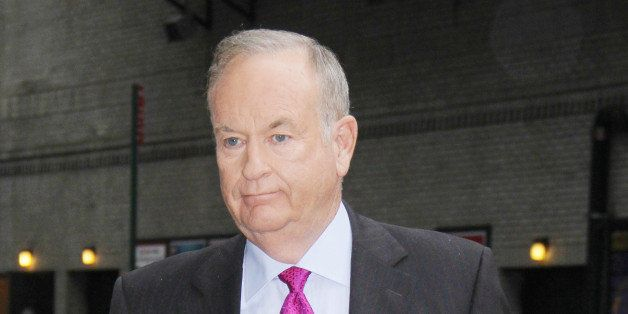 NEW YORK, NY - OCTOBER 1: Bill O'Reilly at Late Show With David Letterman in New York City on October 1, 2014. Credit: RW/Med