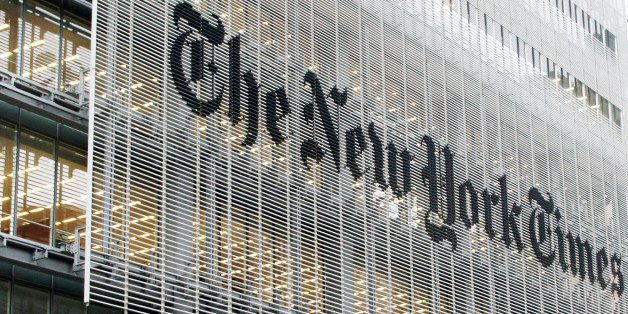 This Wednesday, Oct. 10, 2012 photo shows the New York Times building in New York. On Wednesday, Jan. 14, 2015, The New York