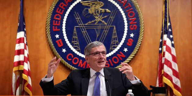 WASHINGTON, DC - MAY 15:  Federal Communications Commission (FCC) Chairman Tom Wheeler speaks during an open meeting to recei