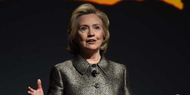 Hillary Clinton participates in a women's equality event March 9, 2015 in New York. Two women with global clout -- Hillary Cl