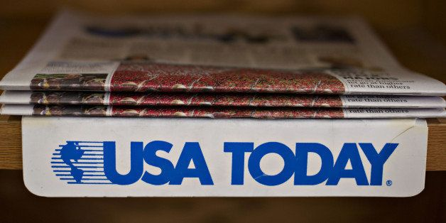 Copies of the USA Today newspaper sit on display for sale at a newsstand in Princeton, Illinois, U.S., on Tuesday, Aug. 5, 20