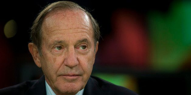 Mortimer 'Mort' Zuckerman, chairman and chief executive officer of Boston Properties Inc., pauses before a Bloomberg Televisi
