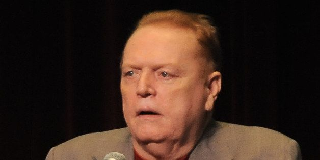 Larry Flynt speaks at The Los Angeles Times Festival of Books at USC  on Saturday April 30, 2011, in Los Angeles, Calif. (AP