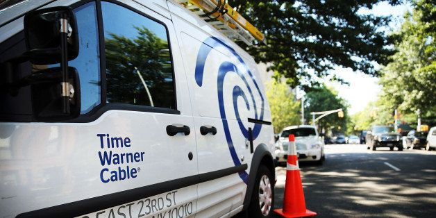 NEW YORK, NY - AUGUST 27:  A Time Warner Cable truck is viewed in Brooklyn on August 27, 2014 in New York City.  Time Warner