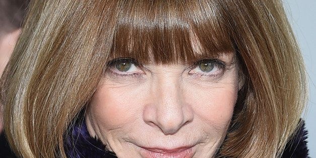 NEW YORK, NY - FEBRUARY 19:  Editor-in-chief of American Vogue Anna Wintour attends the Calvin Klein Collection fashion show