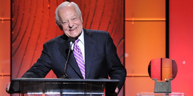 BEVERLY HILLS, CA - MARCH 11: Honoree Bob Schieffer speaks onstage at the Academy of Television Arts & Sciences 22nd Annu