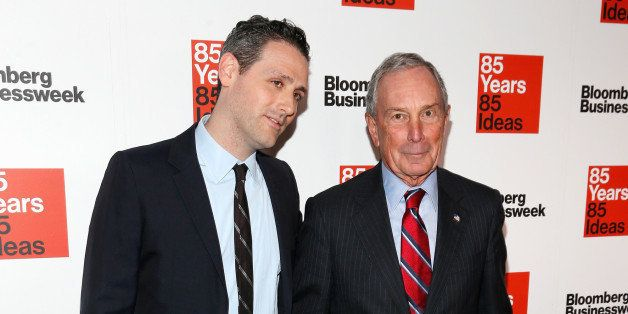NEW YORK, NY - DECEMBER 04:  Josh Tyrangiel (L) and Michael Bloomberg attend Bloomberg Businessweek's 85th anniversary celebr