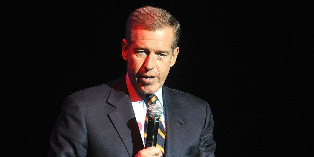 FILE - In this Nov. 5, 2014 file photo, Brian Williams speaks at the 8th Annual Stand Up For Heroes, presented by New York Co