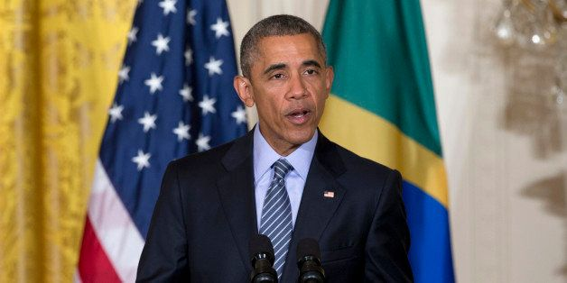 President Barack Obama speaks during a joint news conference with Brazilian President Dilma Rousseff, Tuesday, June 30, 2015,