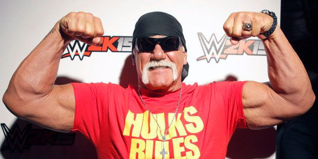 WWE Hall of Famer Hulk Hogan attends the WWE 2K15 SummerSlam Confidential Panel at Club Nokia, on Saturday, August 16, 2014 i