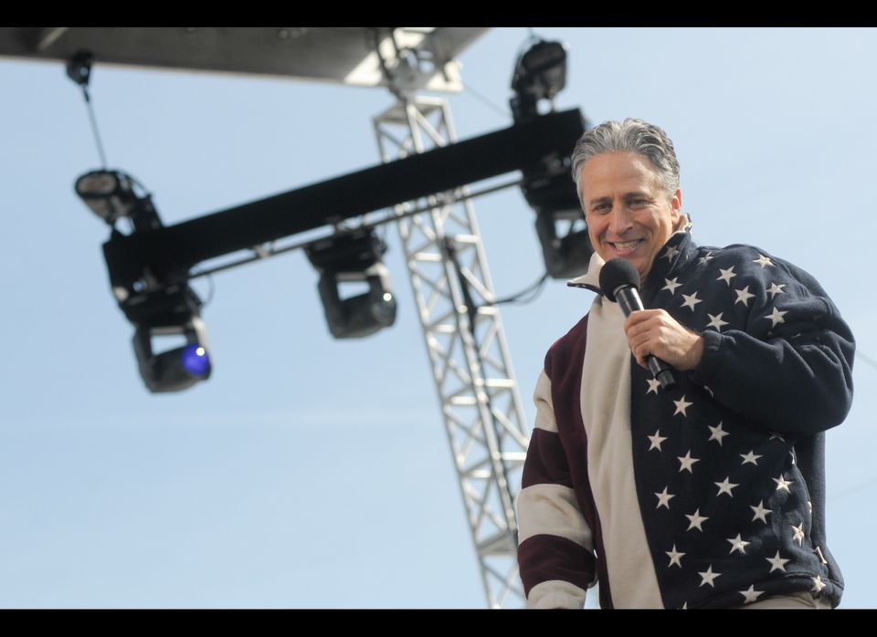 """Jon Stewart acknowledged at Saturday's rally that """"I can't control what people think this was.""""  He also called the media """""""